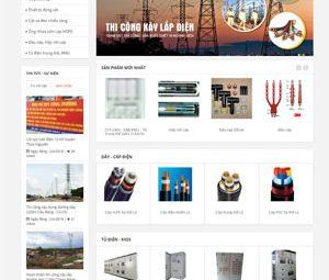 Thiết kế website bán thiết bị điện