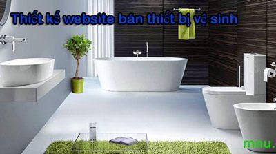 Thiết kế website bán thiết bị vệ sinh