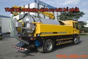 Thiết kế website dịch vụ hút bể phốt