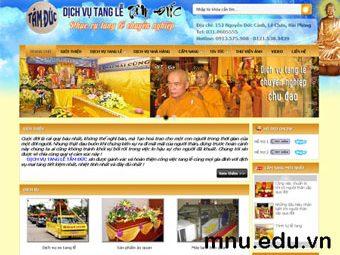 Thiết kế website dịch vụ tang lễ