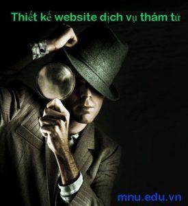 Thiết kế website dịch vụ thám tử