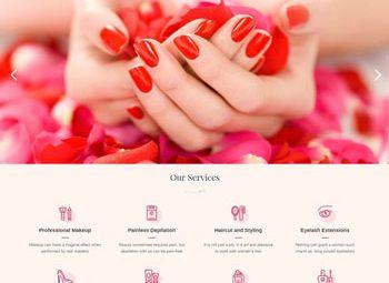 Thiết kế website tiệm nails